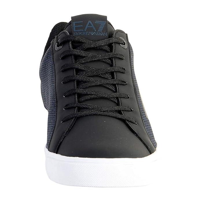 Scarpe EA7 Emporio Armani 7 EA Uomo X8X005 Sneakers Basse Blu Nero Lacci  Sport  Amazon.it  Scarpe e borse c39696e8ae8
