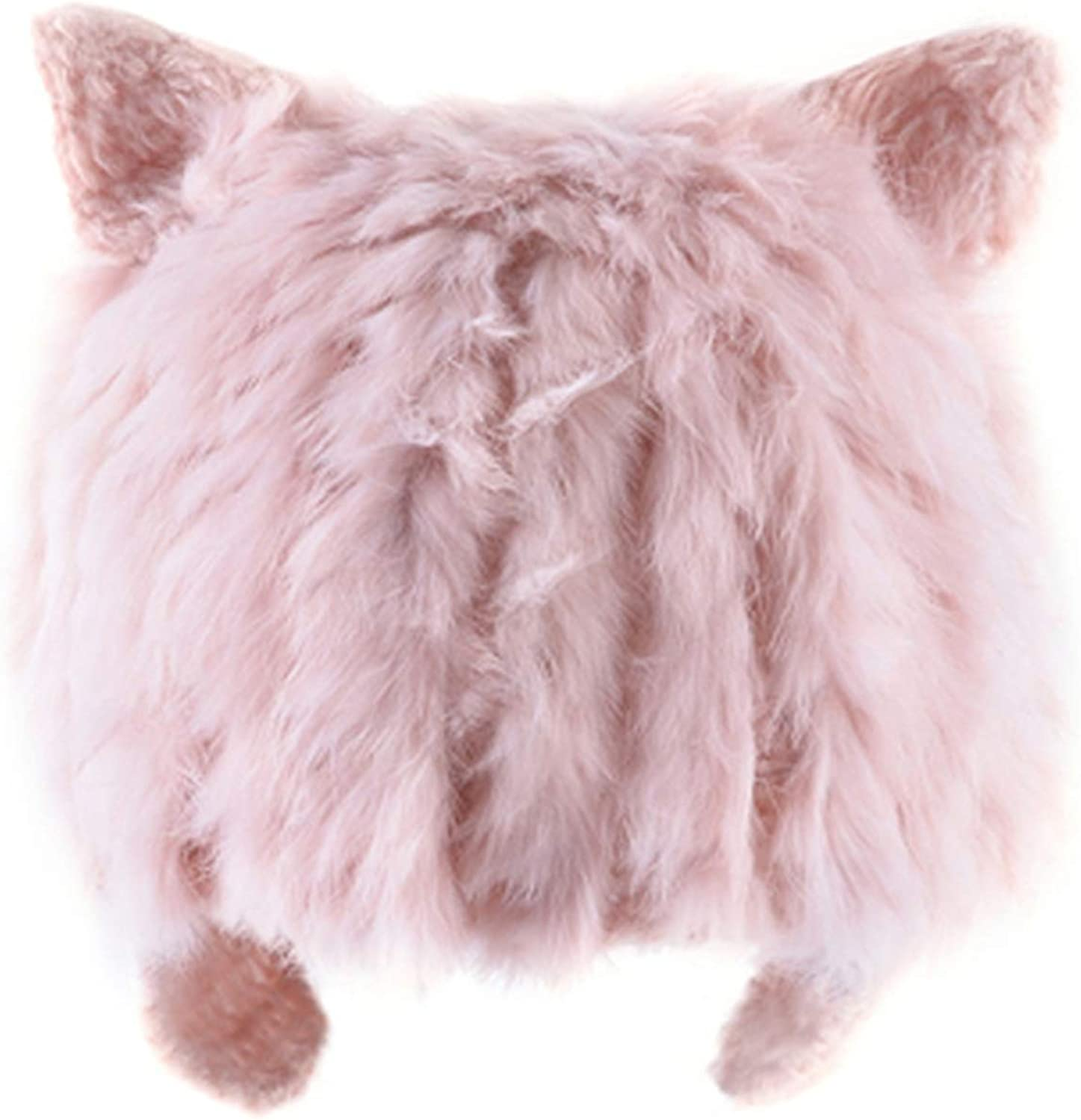 Rabbit Fur Hatss Knitted Wool Beanies Girl Lovely Winter hat cat Ear Flaps Cap
