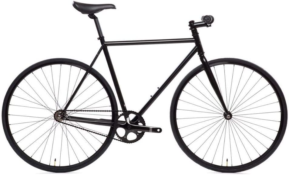 State Bicycle 4130 - The Matte Black | Double Butted Grade Chromoly Steel - Fixed Gear/Single Speed | 52cm Riser Bar