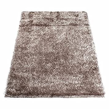 Home Deco Tapis Shaggy Taupe 60 X 120 Cm