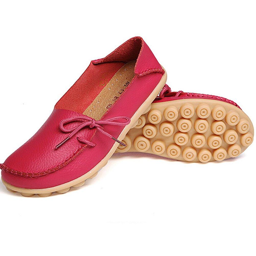 MatchLife MatchLife MatchLife Femme Rétro Cuir Flach Pumpe Casual Chaussures - B01EHGE6G6 - Chaussures bateau 5e5702