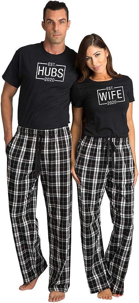 Zynotti Pijama a Juego para Parejas y Esposas, Pijamas de ...