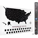 "USA Scratch Off Map | 24""x16"" Travel Size 