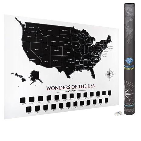 Amazon.com: USA Scratch Off Map | 35\