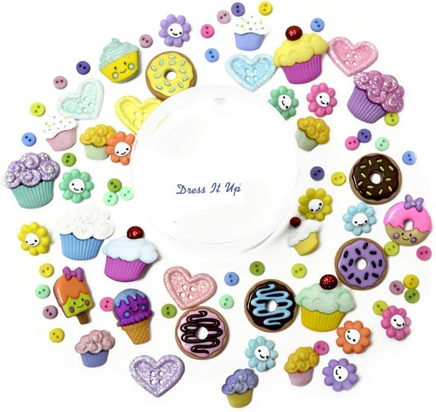 Jesse James Company Dress it Up Embellishments Buttons Sweet Shop Multi