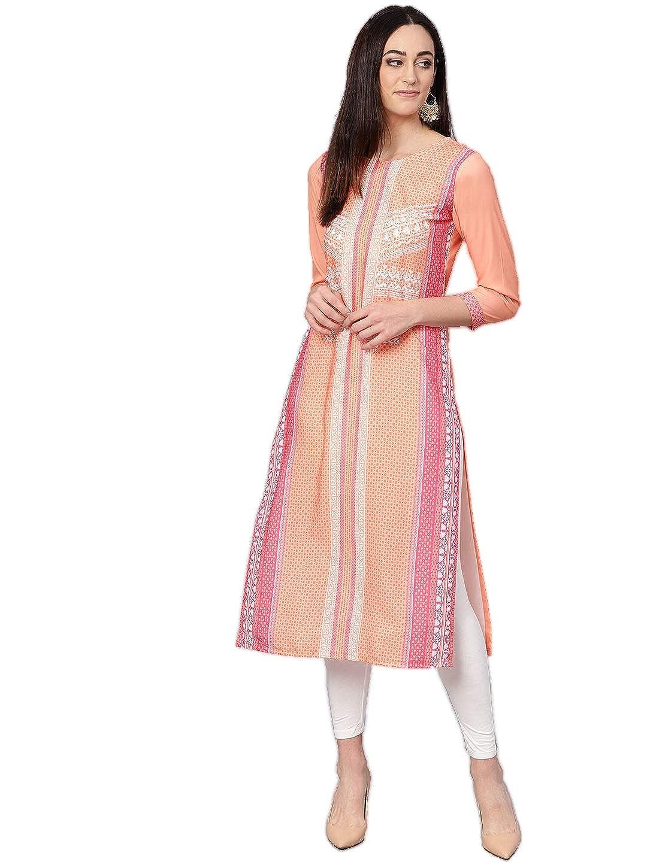 Women's Polyester A-line Kurta