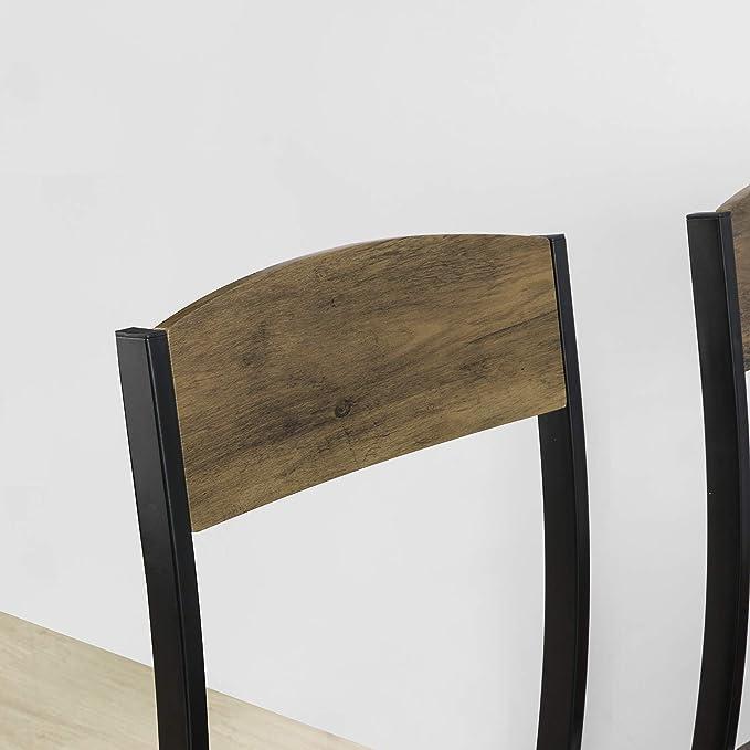 SoBuy Set Tavolo da Pranzo con 4 sedie Tavolo e sedie Cucina Stile Vintage L110*P70*A76 cm FST73-NX4