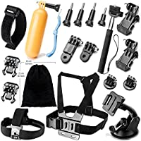 YFY 11-In-1 Basic Outdoor Sports Accessories Kit for GoPro Hero Cameras
