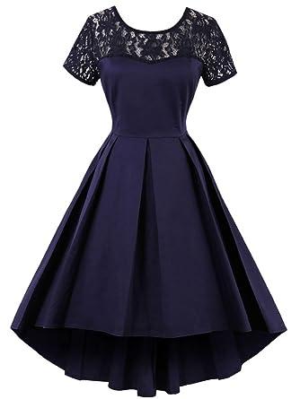 Babyonlinedress Babyonline Women 1950s Vintage Short Sleeves Sheer ...
