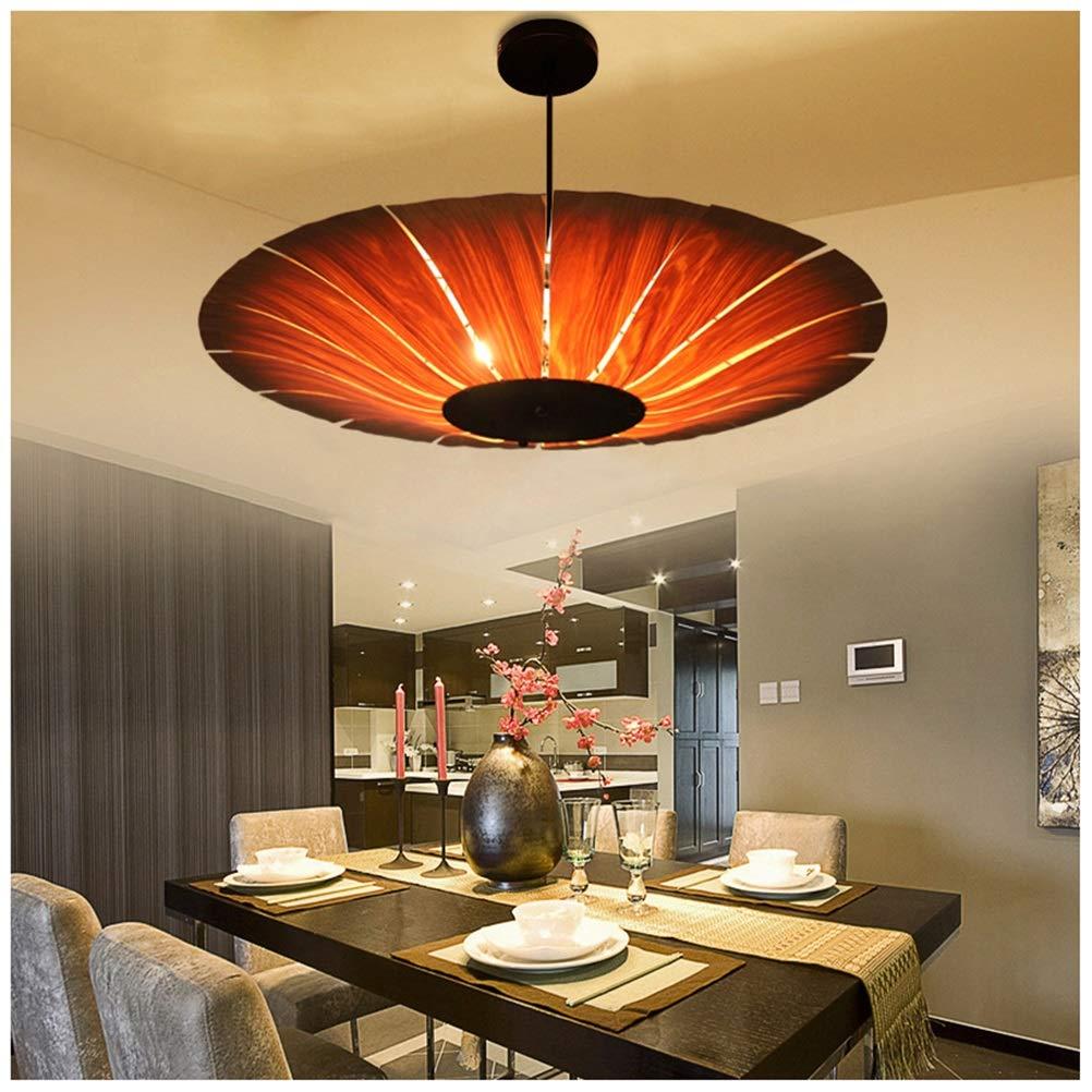 ペンダントライト レストランペンダントライトクリエイティブ天井照明リビングルームラウンドシャンデリア家の装飾 B07TK9L131