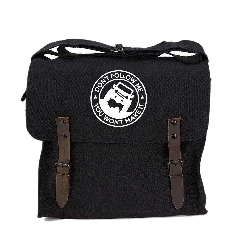 Jeep Don t Follow Me you Wont make it Canvas Medic Shoulder Bag in Black