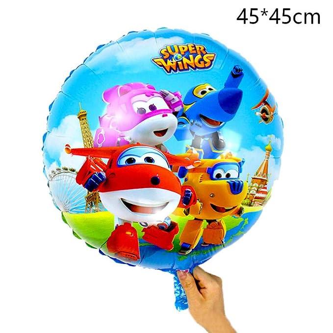 LIUUWO Balloon 18 Pulgadas Super Wings cumpleaños Globos de ...