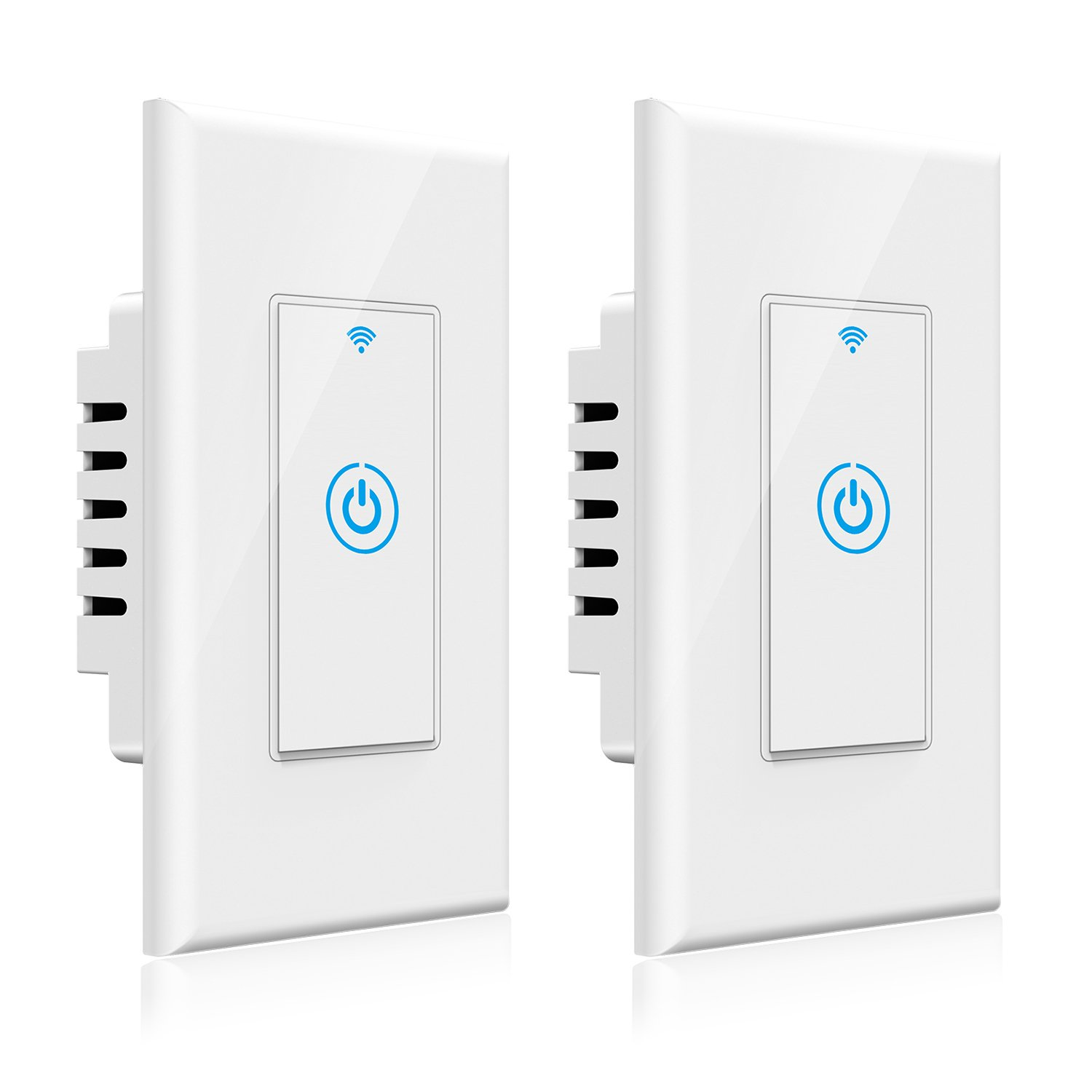Smart Light Switch - Gosund Smart Wifi Light Wall Switch 15A Touch Timing Function Remote Control From Anywhere, Works with Alexa, Google Assistant And IFTTT, No Hub Required (2 pack)