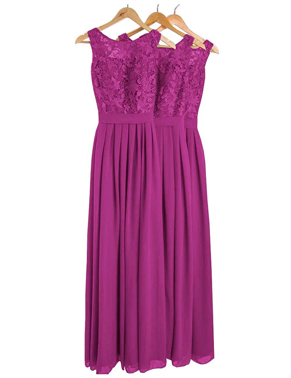 Cdress Long Bridesmaid Dresses Chiffon Maxi Evening Gowns Lace Cocktail Prom Dress CED304