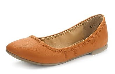 11b948c0a DREAM PAIRS Women's Sole Happy Tan Ballerina Walking Flats Shoes - 5 ...