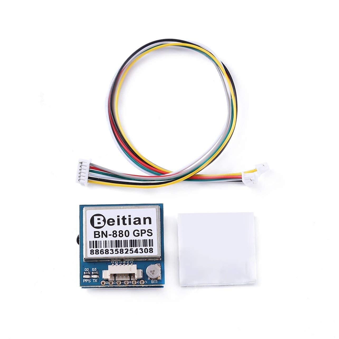 WOSOSYEYO Beitian GPS Modul Bn-880 Flugsteuerungsmodul Mit Kabelanschluss F/ür Rc Multicopter Kamera Drone Zubeh/ör