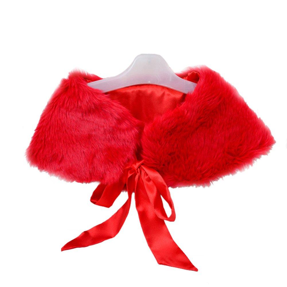 SK Studio Girls Princess Faux Fur Bolero Shoulder Cape Shawl Stole Shrug SK-ET37