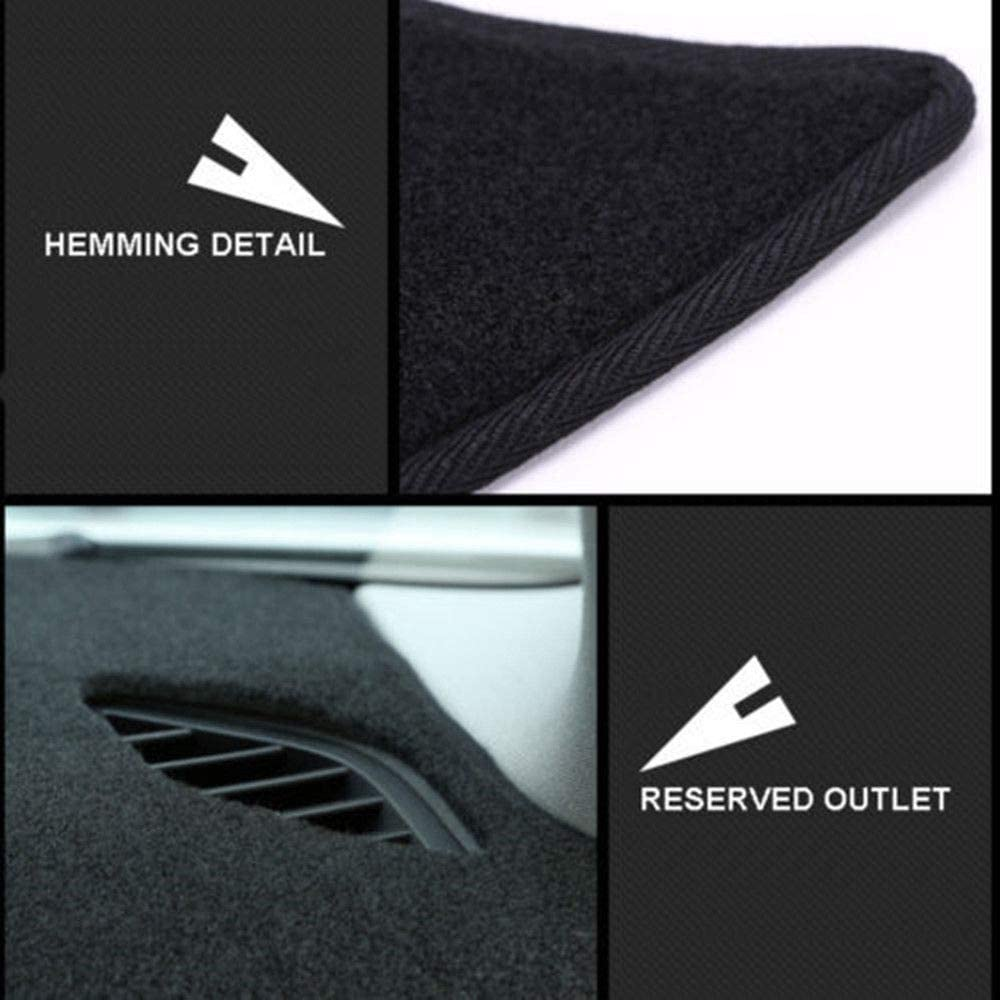 Unknow Car Dashboard Cover Mat Dashmat Pad Anti-UV Sun Shade Instrument Panel Carpet,for Volkswagen VW Touran 2004-2016 Car Accessories