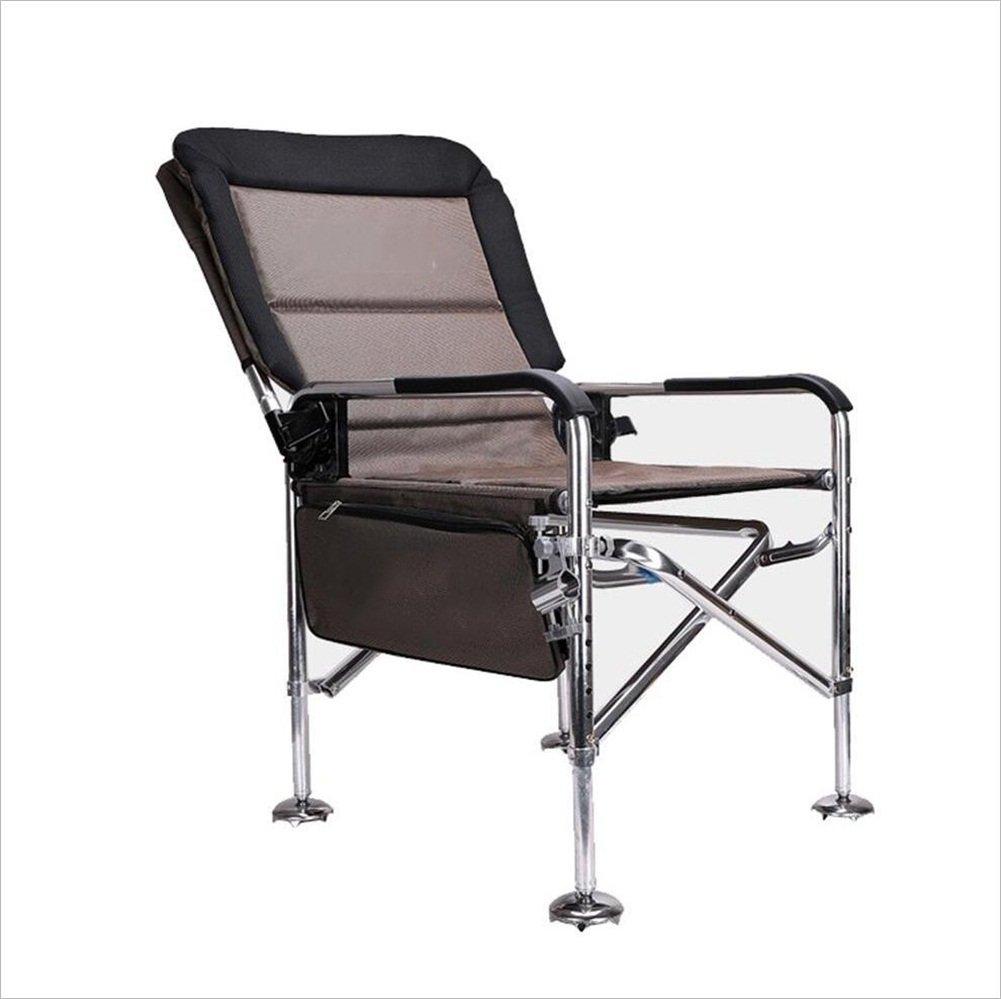 YJchairs Zusammenklappbare Stühle, Fischen-Stuhl Mit Zubehör-Bett-Tasche Mit Seitentablett Karpfen Ergonomic Portable Multifunktional