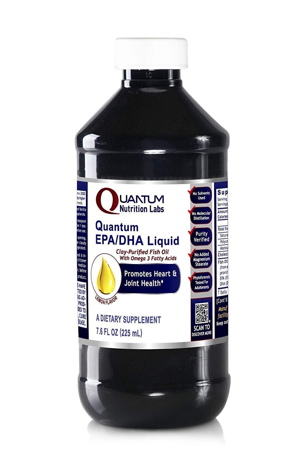 Quantum EPA/DHA, 24 fl oz (3 Bottles) - Quantum Fish Oil Concentrate for Heart and Joint Health, Lemon Flavor by Quantum Nutrition Labs