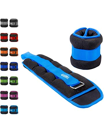 UMI Durable Ankle/Wrist Weights (1 Pair) with Adjustable Strap for Fitness,
