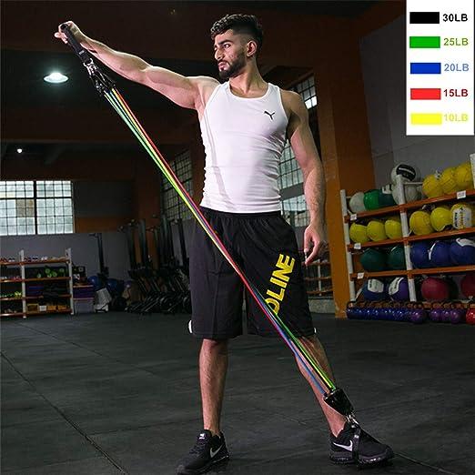 17Pcs Set Latex Resistance Bands Gym Door Anchor With Bag Kit Set Ankle Straps