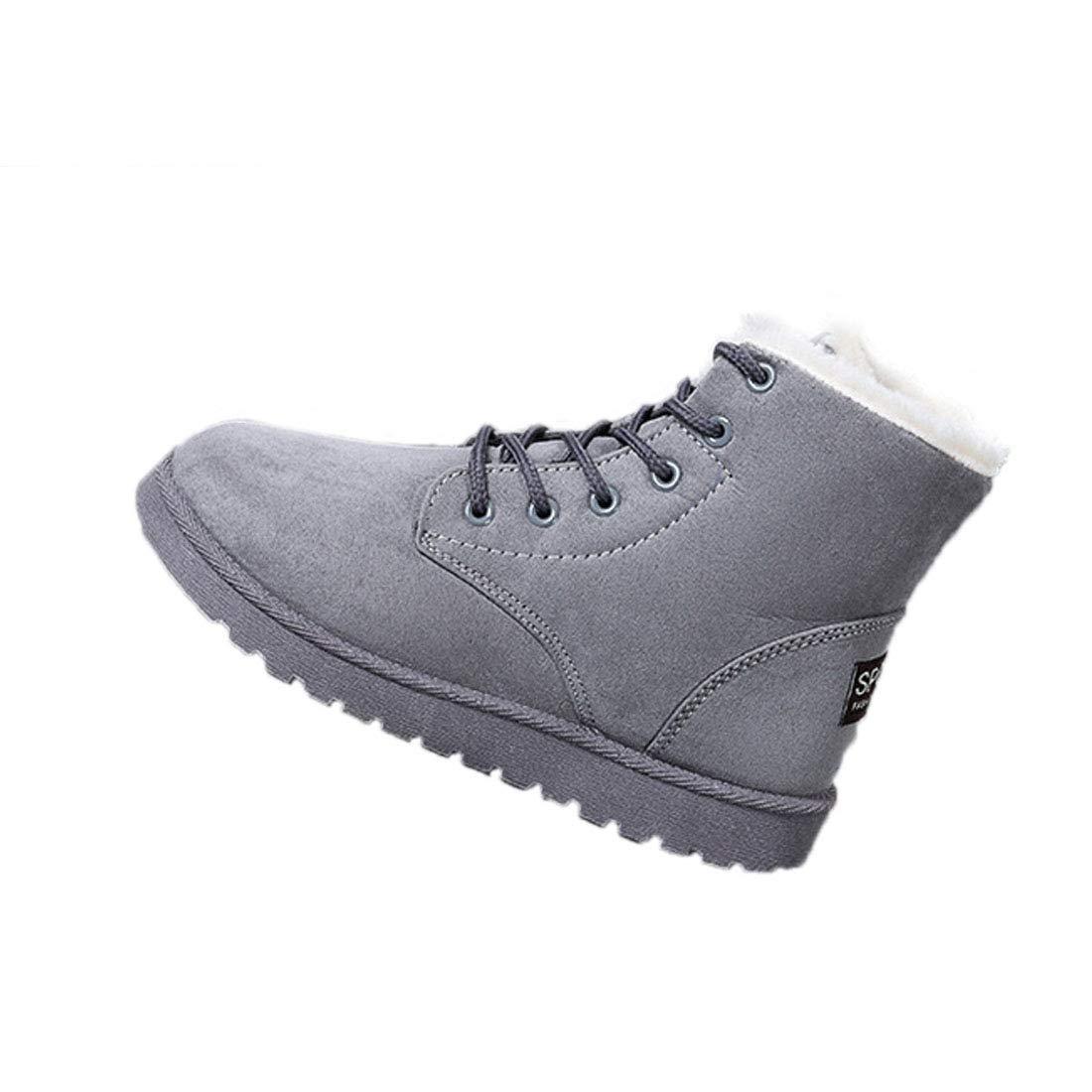Fulision Moda Zapatos de Mujer Botas de Nieve Mantener Caliente Hembra Ocio Botas de Invierno