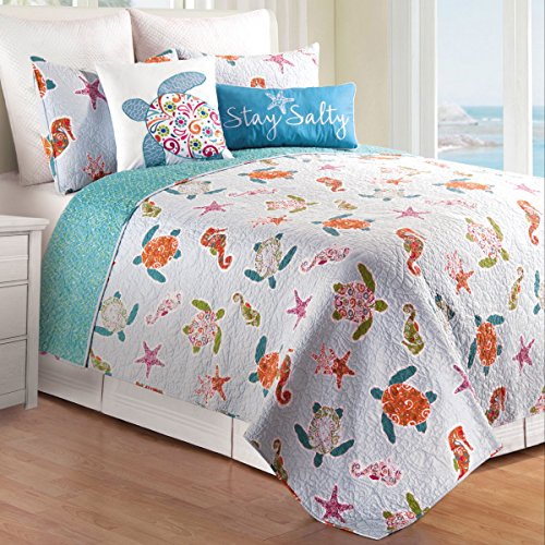 Sea Quilt Set - C&F Home, St. Kitts 3Pc Full/Queen Quilt Set, Reversible 92x90 Inch with 2 Standard Shams