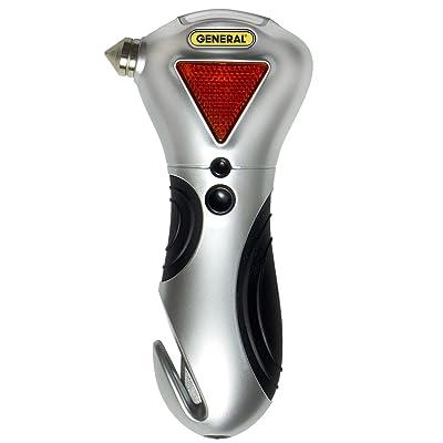 General Tools 7902 4-in-1 Car Escape Tool - Window Breaker, Seat Belt Cutter, Flashing Hazard Light, LED Flashlight: Home Improvement