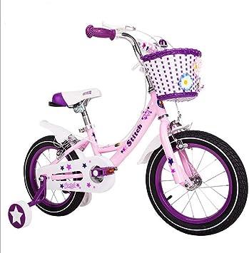 Xiaoping Bicicleta for niños 14-16-18 Pulgadas niña Rosa Carro de ...