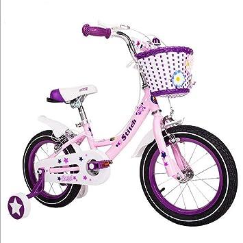 Xiaoping Bicicleta for niños 14-16-18 Pulgadas niña Rosa ...
