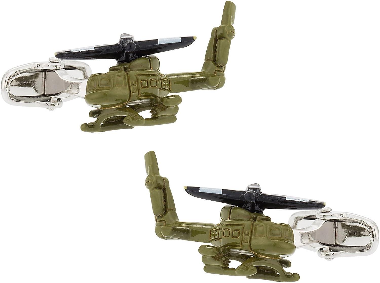 Cuff-Daddy Army Helicopter Cufflinks