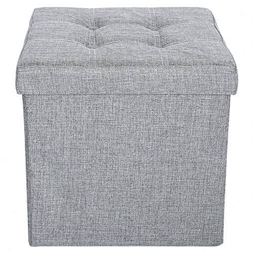 Stupendous Epeanhome Storage Ottoman Fabric Linen Folding Stool Uwap Interior Chair Design Uwaporg