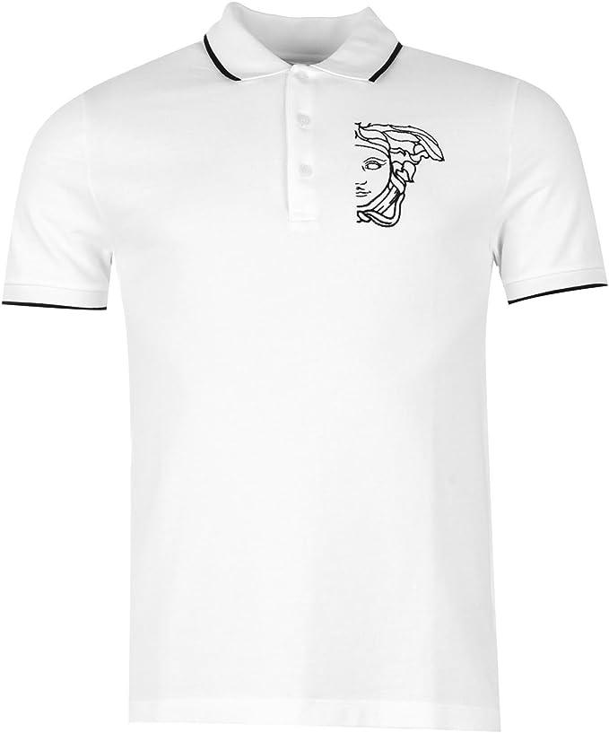 Versace Collection Hombre Liso Polo Camisa Top Mangas Cortas ...