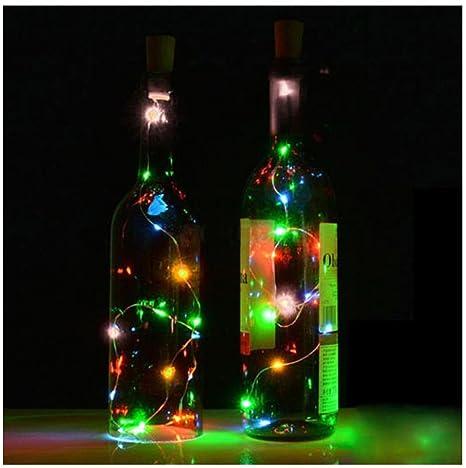 Ularma Corcho De Botella De Vino Solar En Forma De Cadena Luz 8 Noche LED Lámpara
