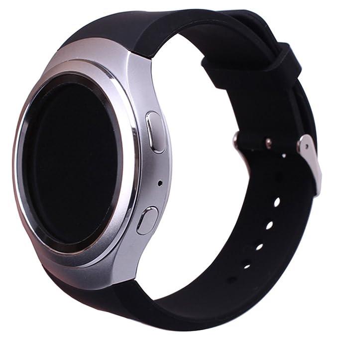Sundaree Compatible con Correa Gear S2 Sport,Ralmente Silicona Reemplazo Banda Pulseras de Repuesto Correa de Reloj Inteligente Smartwatch para ...