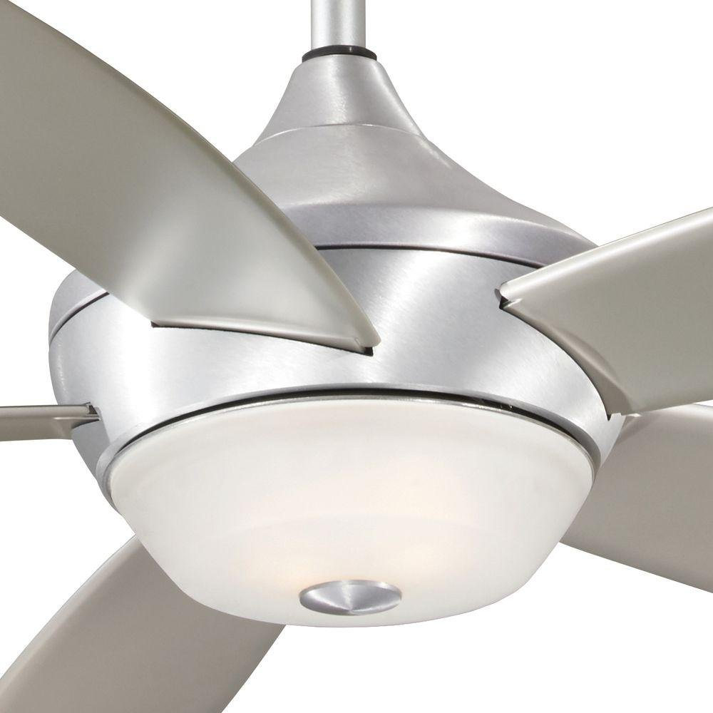 52'' Indoor/Outdoor 5-Blades in Brushed Aluminum Ceiling Fan Light Kit by Aire a Minka (Image #2)