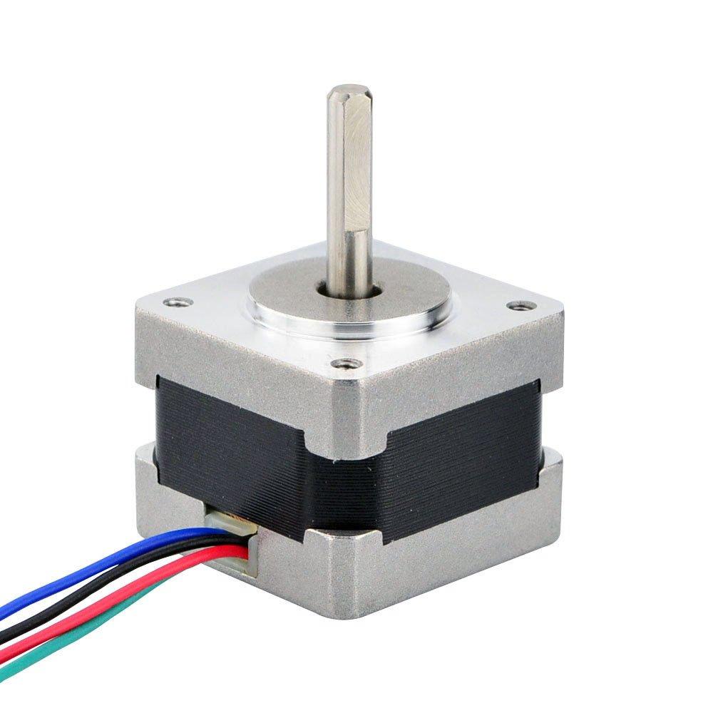 Nema 14 Stepper Motor 09deg400 Steps Rev 04a 11ncm 4 Wire Wiring Color Code 156ozin Bipolar Wires Industrial Scientific