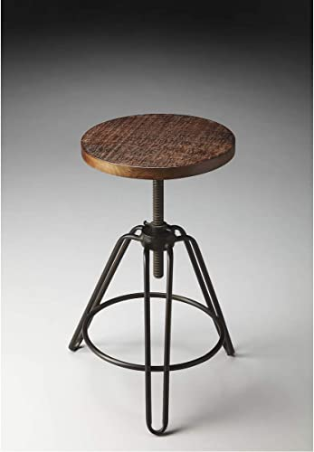 BUTLER TRENTON METAL WOOD REVOLVING BAR STOOL