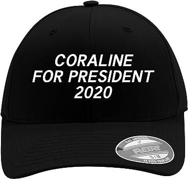Amazon Com Coraline For President 2020 Men S Flexfit Baseball Cap Hat Clothing