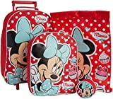 Minnie Mouse Dotty Day Out 4pc Children's Luggage Set in Wheeled Bag