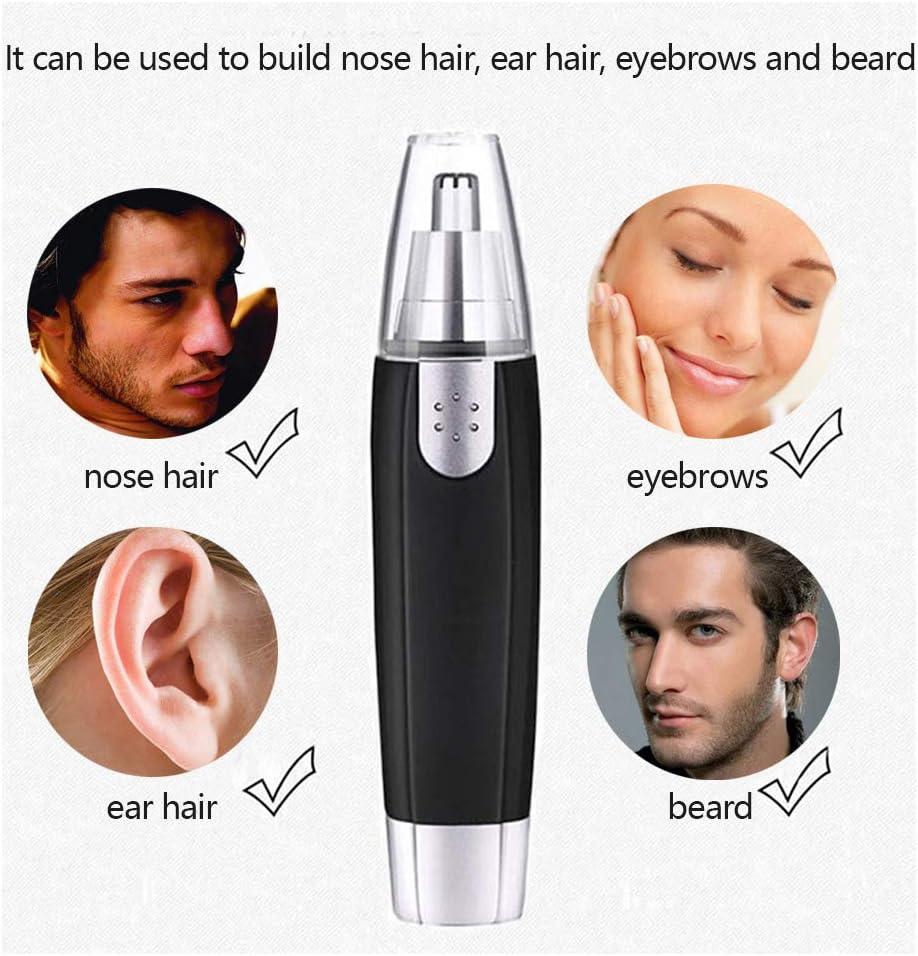 FOCCTS - Cortapelos para la nariz, funciona con pilas, para orejas ...