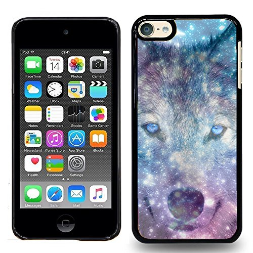 Of Touch The Wolf - iPod Touch 5 / iPod Touch 6, Touch 5 / Touch 6 Case - Space Nebula Wolf Face - Designer Plastic Snap On Case