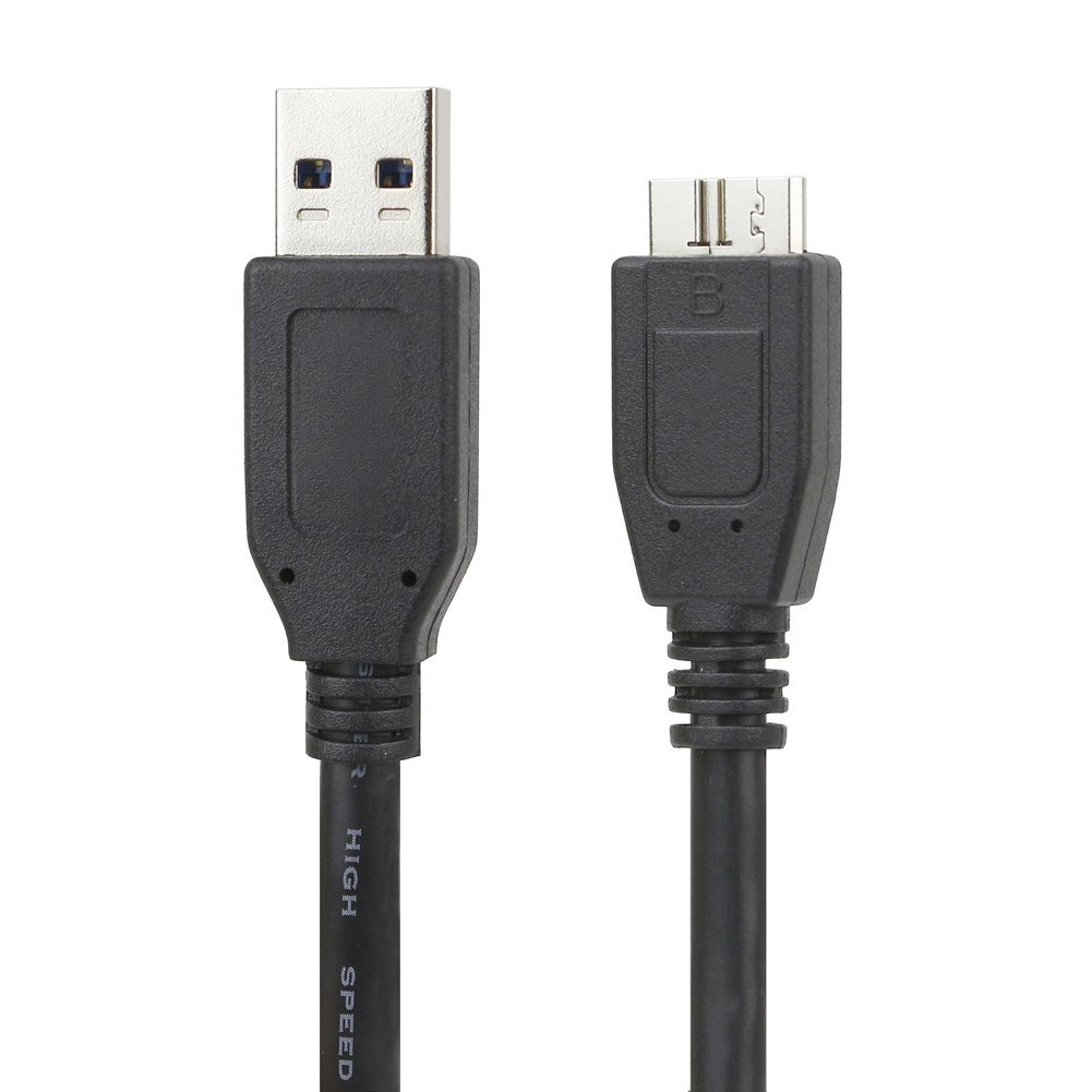 EZOPower USB 3.0 Cable/Cord for WD My Passport Ultra, My Passport Slim and more Portable External Hard Drive, 3 FT - Black 885157598422