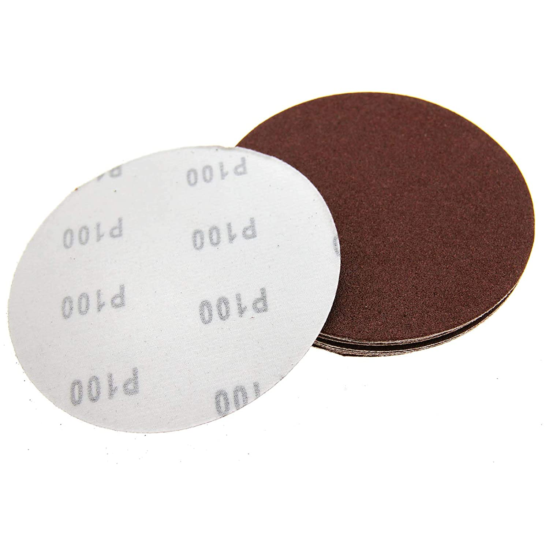 50 Pieces 150mm Round 40 60 80 100 120 Mixed Grit Sanding Sandpaper Discs