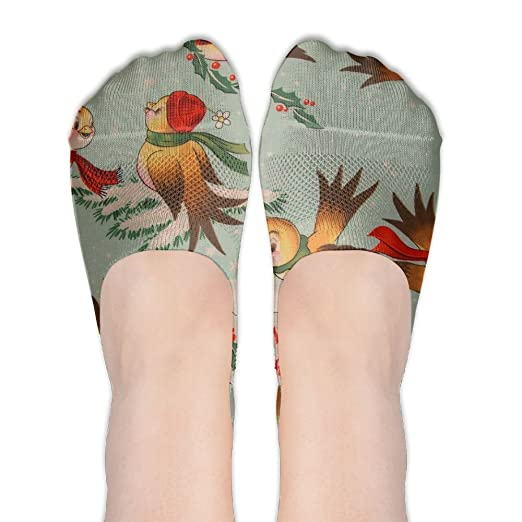 8cf6a0a922839 Cute Bird No Show Socks Liner Socks Low Cut Ped Socks Casual Hidden ...