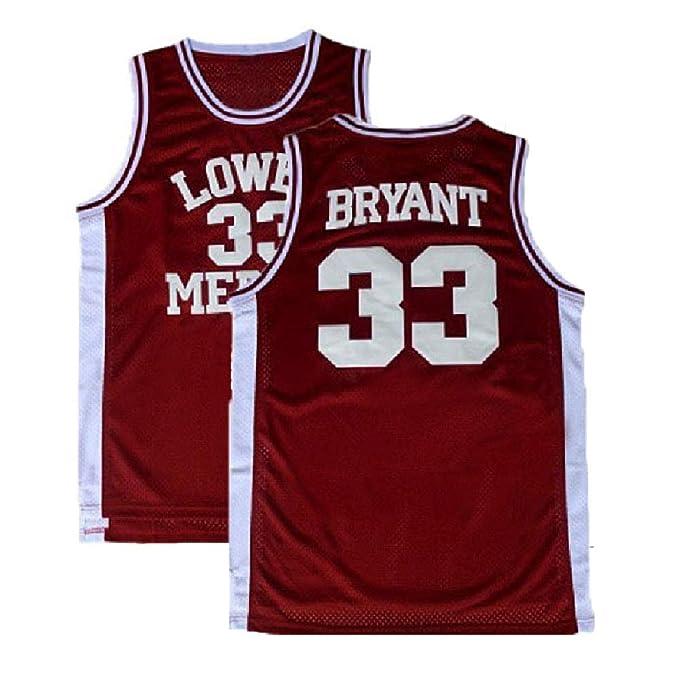 brand new 56ff9 ce1a3 Men's Kobe Jersey 33 Legend Jerseys Retro Basketball Bryant Jersey  Red(S-XXL)