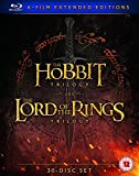 Hobbit Trilogy/The Lord Of The Rings Trilogy: Six Film Collection Extended Edition [Blu-Ray] [2016]