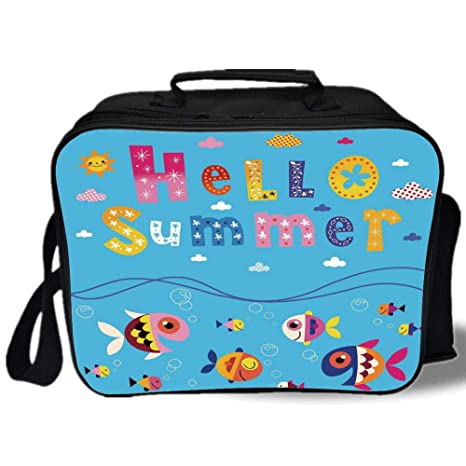 6f4a762a0d19 Amazon.com: Kids Decor 3D Print Insulated Lunch Bag, Colored ...