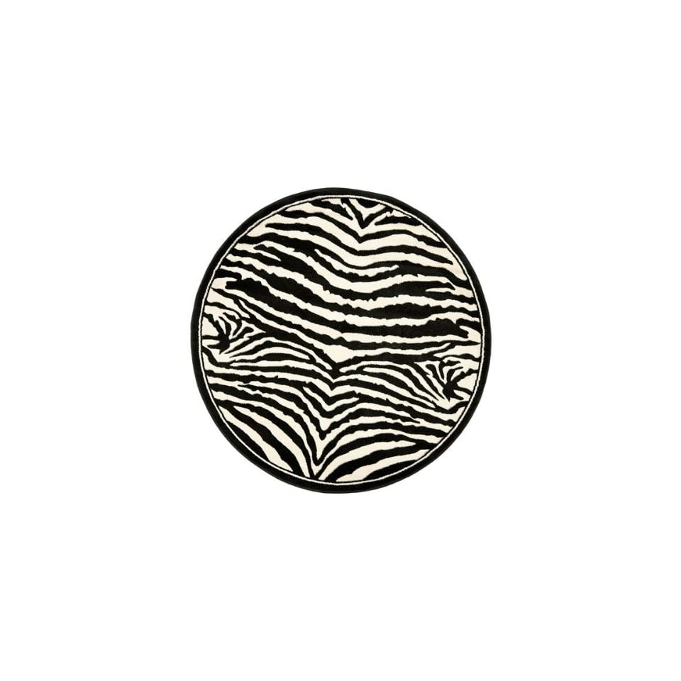 Safavieh Lyndhurst Collection LNH226A White and Black Round Area Rug (53 Diameter)